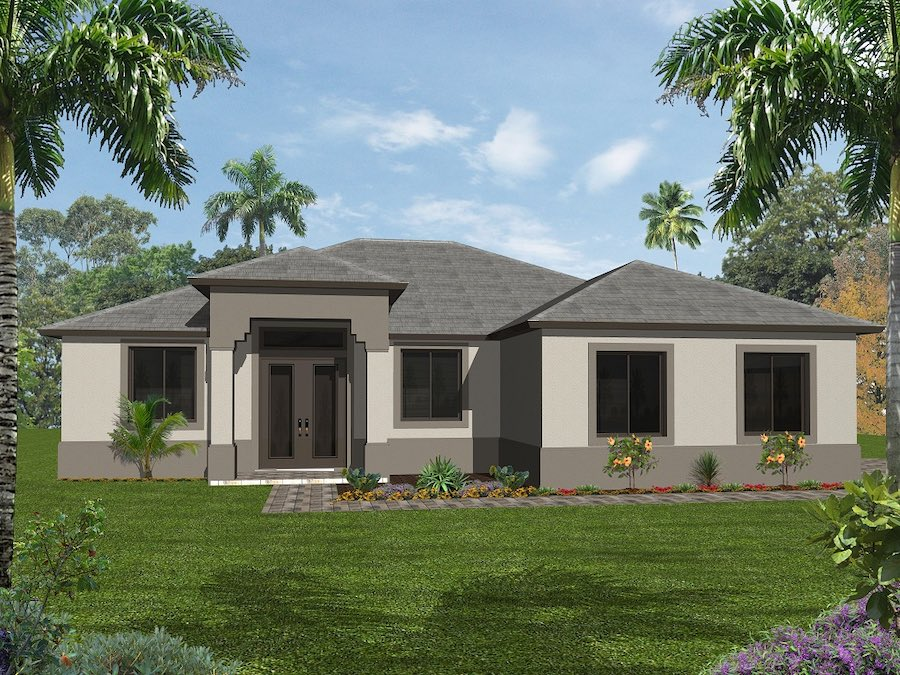 Floor plan for building a new home in Naples, Fort Myers, FL