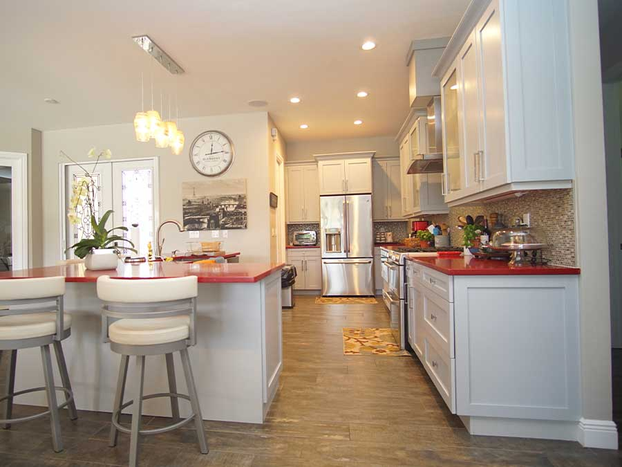 beautiful kitchen with white cabinets in fort myers, naples, fl