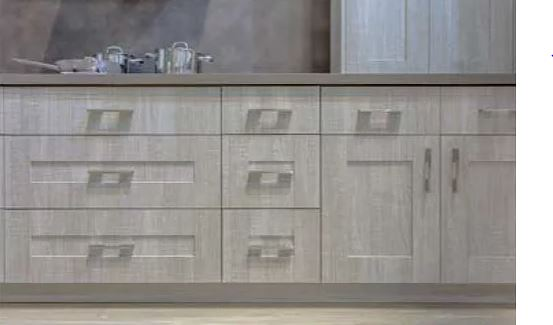Shaker kitchen cabinets by Albi have clean lines and classic look.