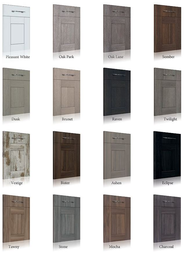 Different options for Master Series Shaker Doors by Albi Cabinets