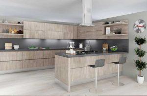 Modern Oak Albi kitchen cabinets installed by SPEC Development LLC