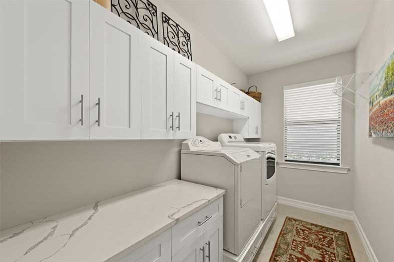 Beautiful new white cabinets, remodeled by SPEC Development