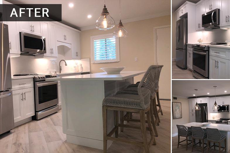 newly renovated kitchen by SPEC Development