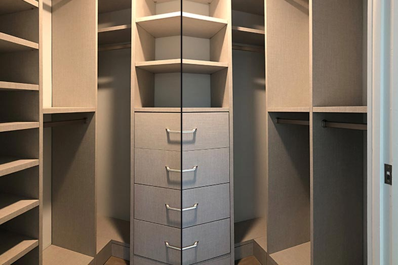 newly renovated closet by SPEC Development