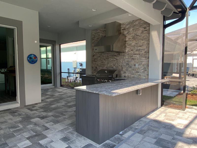 Haverstock outdoor kitchen construction project in naples, fl
